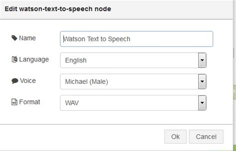 Cognitive application using Watson Text to Speech that