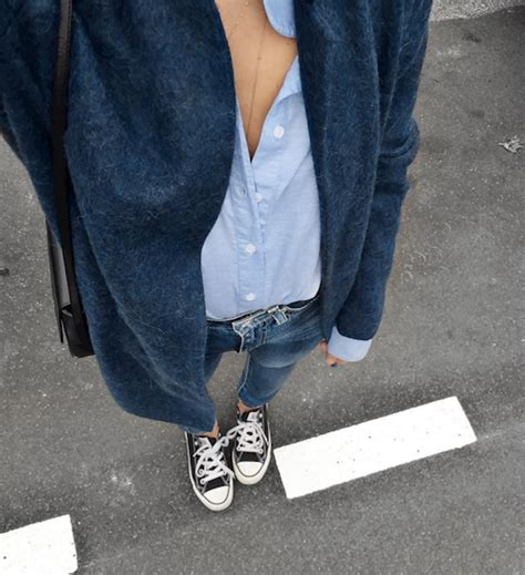 Le Fashion: 21 Cool Ways To Wear Black Converse Sneakers