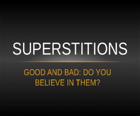 Superstitions Power Point