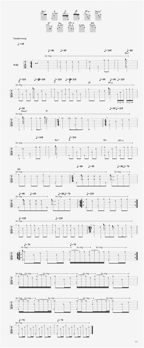 [Genesis] Blood on the rooftops - [G-I] - Forum Guitare T4A