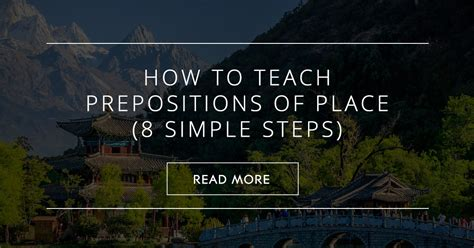 How To Teach Prepositions Of Place (8 Simple Steps)