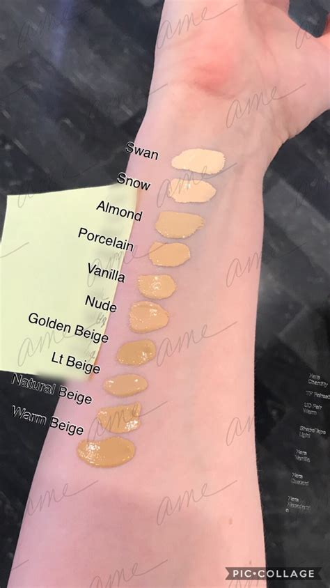 Swatches of the new Too Faced Born this Way Super Coverage