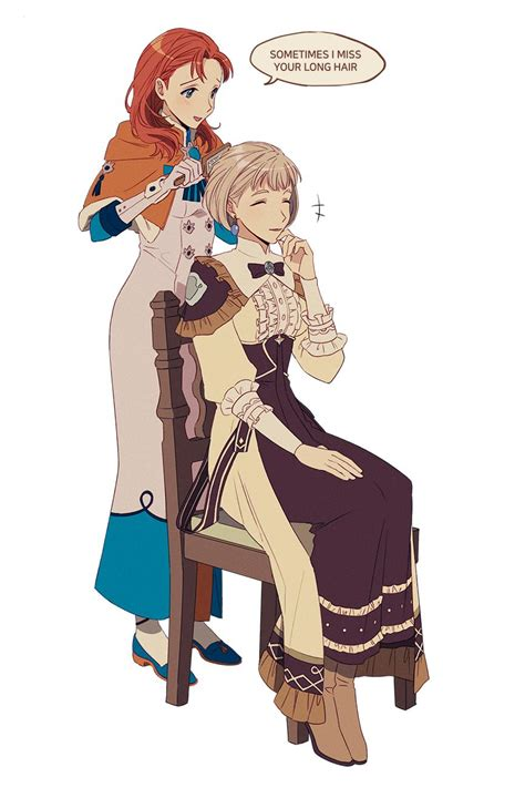 More than friends? Annette and Mercedes [Fire Emblem