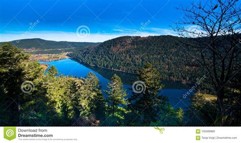 View To The Lac De Longemer Stock Image - Image of