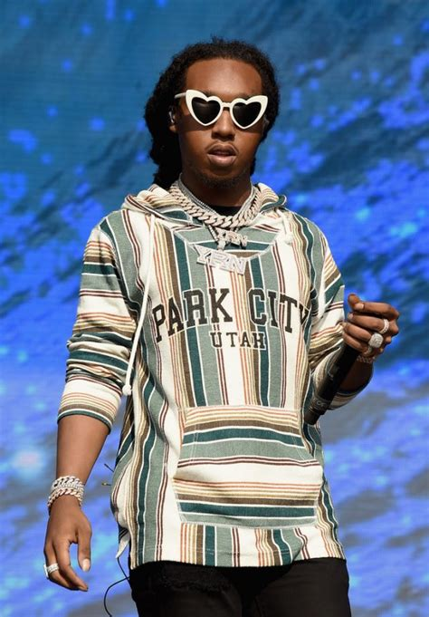 Migos' Takeoff Performs at Meadows Music Festival Wearing