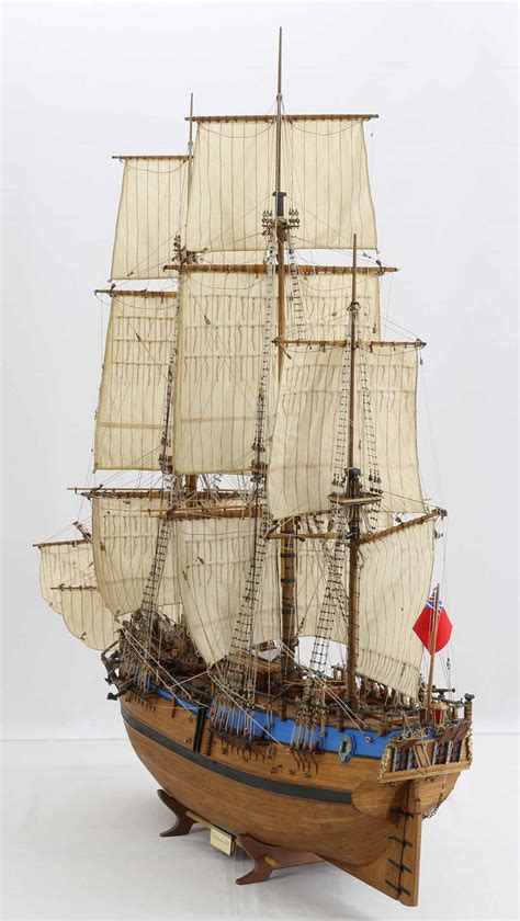Photos of ship model Endeavour of James Cook