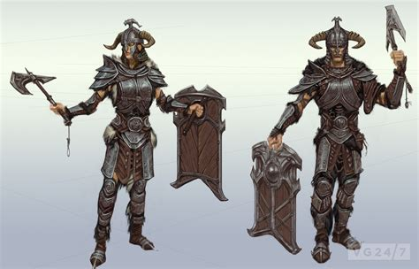 Quick shots - Skyrim concept art depicts people and places