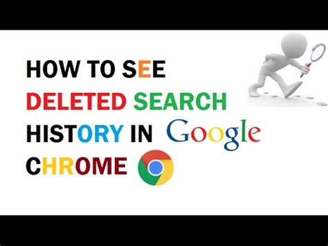 How to see Deleted Search History in Google Chrome - YouTube