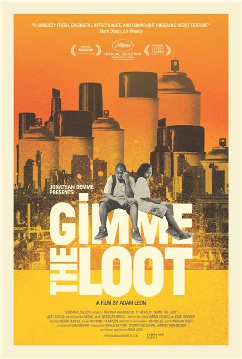 Gimme The Loot   Loot, Netflix movies, Movie posters