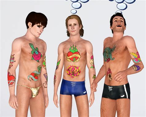 Mod The Sims - New School Tattoo Pack