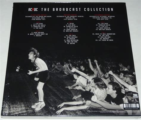 Ac/dc The Broadcast Collection Lp Limited Triple Clear