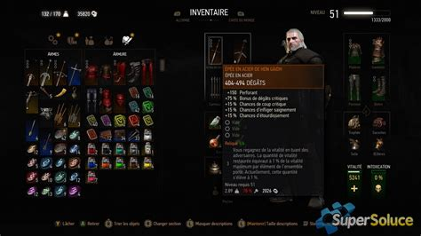 Armes - Soluce The Witcher 3 : Wild Hunt | SuperSoluce