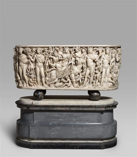 Marble sarcophagus with the Triumph of Dionysos and the