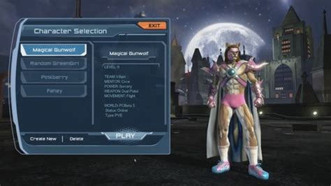 Dial DC Universe Online Character Creation For Hero