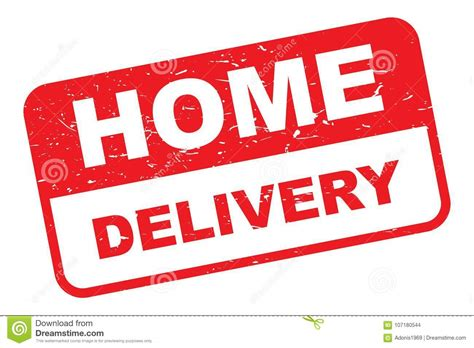 Home delivery stamp stock vector