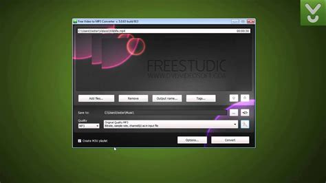 Free Video to MP3 Converter - Extract audio tracks from