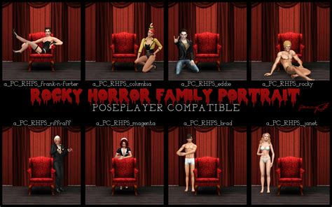 My Sims 3 Blog: Rocky Horror Family Portrait Pose Set by