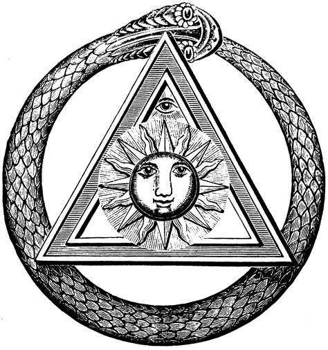 """Ouroboros image from the Freemasonry journal """"The Kneph"""