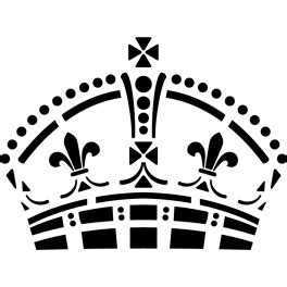 Stickers Couronne reine d'Angleterre londres - Color-stickers