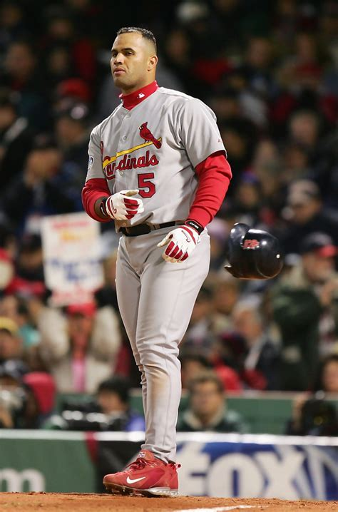 Albert Pujols in World Series: Cardinals v Red Sox - Game